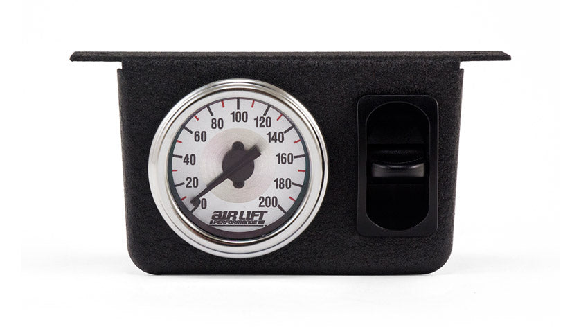 Air Lift Single Needle Gauge Panel With One Paddle Switch- 200 PSI