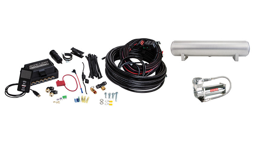 Air Lift Performance 3P (1/4″ AIR LINE, 4 GALLON 5-PORT TANK, VIAIR 444C COMPRESSOR)