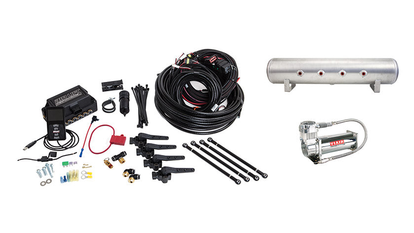 Air Lift Performance 3H (1/4″ AIR LINE, 4 GALLON 7-PORT TANK, VIAIR 444C COMPRESSOR)