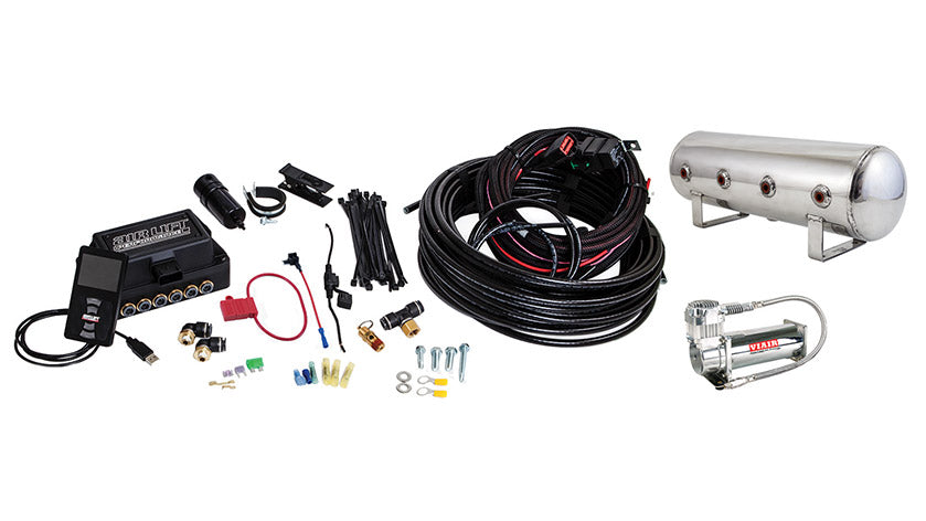 Air Lift Performance 3P (3/8″ AIR LINE, 2.5 GALLON POLISHED TANK, VIAIR 444C COMPRESSOR)