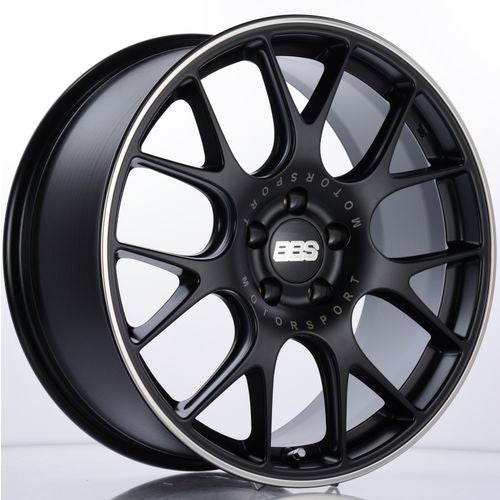 BBS CH-R 104 19x8.5 5x120 ET32 Satin Black Polished Rim Protector Wheel -82mm PFS/Clip Required