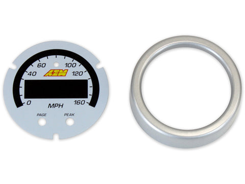 AEM X-Series 0-160 MPH GPS Speedometer Gauge Accessory Kit