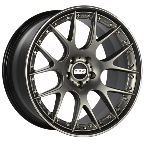 BBS CH-RII 604 21x10.5 5x120 ET35 Satin Platinum Center Black Lip SS Rim Prot Wheel -82mm PFS/Clip Req