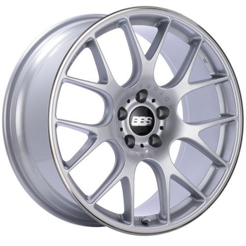 BBS CH-R 102 20x9 5x112 ET25 Brilliant Silver Polished Rim Protector Wheel -82mm PFS/Clip Required