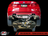 AWE Tuning BMW F3X N20/N26 428i Touring Edition Exhaust Quad Outlet - 80mm Diamond Black Tips