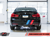 AWE Tuning BMW F3X 340i Touring Edition Axle-Back Exhaust - Diamond Black Tips (90mm)