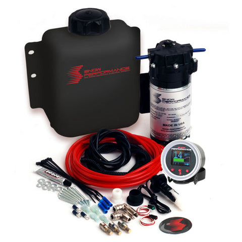 Snow Performance Stage 2.5 Boost Cooler Forced Induction Progressive Water-Methanol Injection Kit (Red High Temp Nylon Tubing, Quick-Connect Fittings)