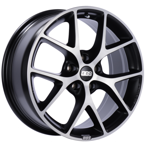 BBS SR 029 19x8.5 5x114.3 ET45 Satin Black Diamond Cut Face Wheel -82mm PFS/Clip Required