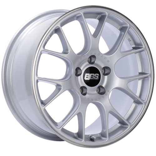 BBS CH-R 146 18x8.5 5x112 ET38 Brilliant Silver Polished Rim Protector Wheel -82mm PFS/Clip Required