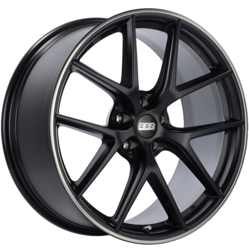 BBS CI-R 0202 20x9 5x120 ET25 Satin Black Polished Rim Protector Wheel -82mm PFS/Clip Required