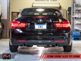 AWE Tuning BMW F3X 335i/435i Touring Edition Axle-Back Exhaust - Chrome Silver Tips (102mm)