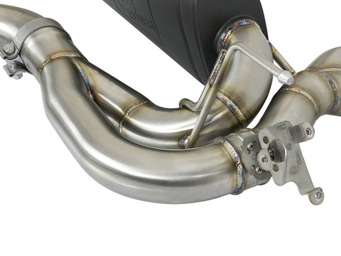 "aFe POWER MACH Force-Xp 3"" to 2-1/2"" 304 Stainless Steel Axle-Back Exhaust System (Carbon Fiber Tips) 15-19 BMW M3/M4 (F80/82/83) L6-3.0L (tt) S55"