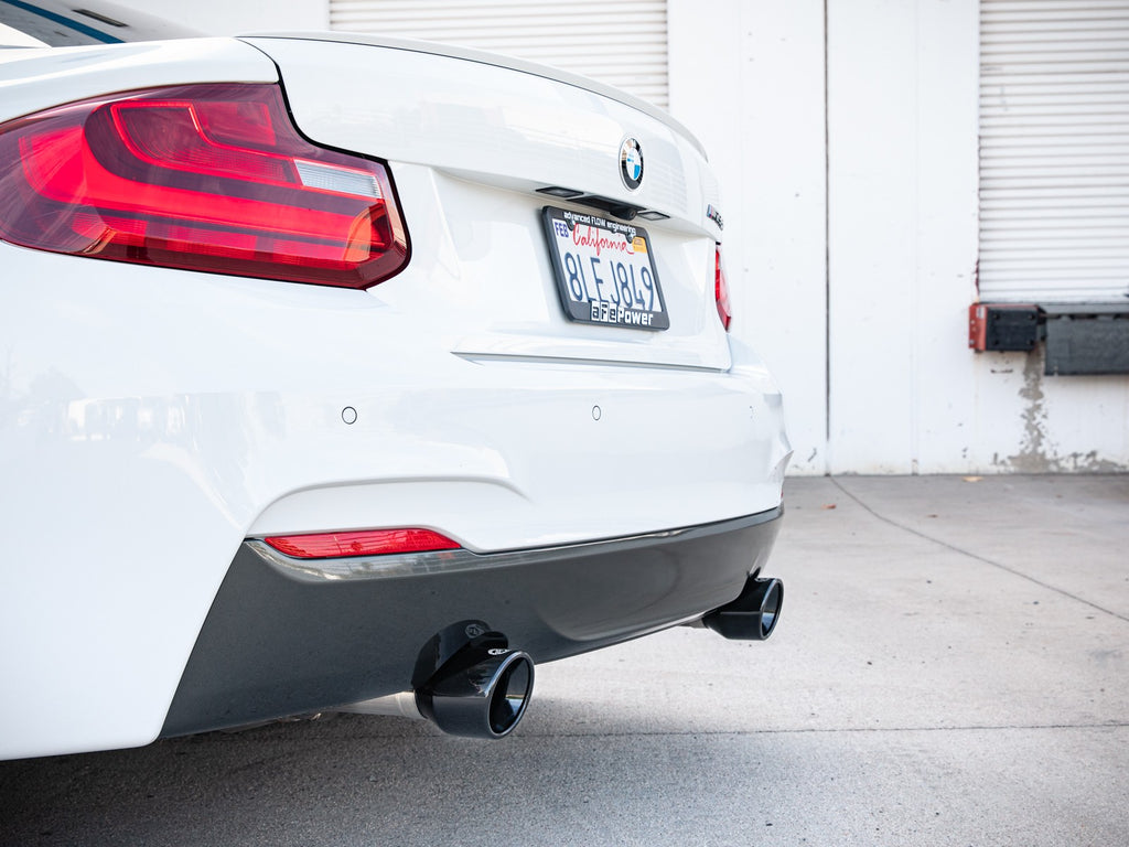 aFe MACH ForceXP 3IN to 2.5IN 304SS Cat-Back Exhaust System w/ Black Tips BMW M235i (F22/23)