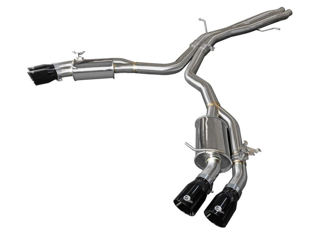 aFe Audi RS5 Coupe MACH Force-Xp 3in to 2.5in 304 SS Axle-Back Exhaust System (Quad Black Tip)