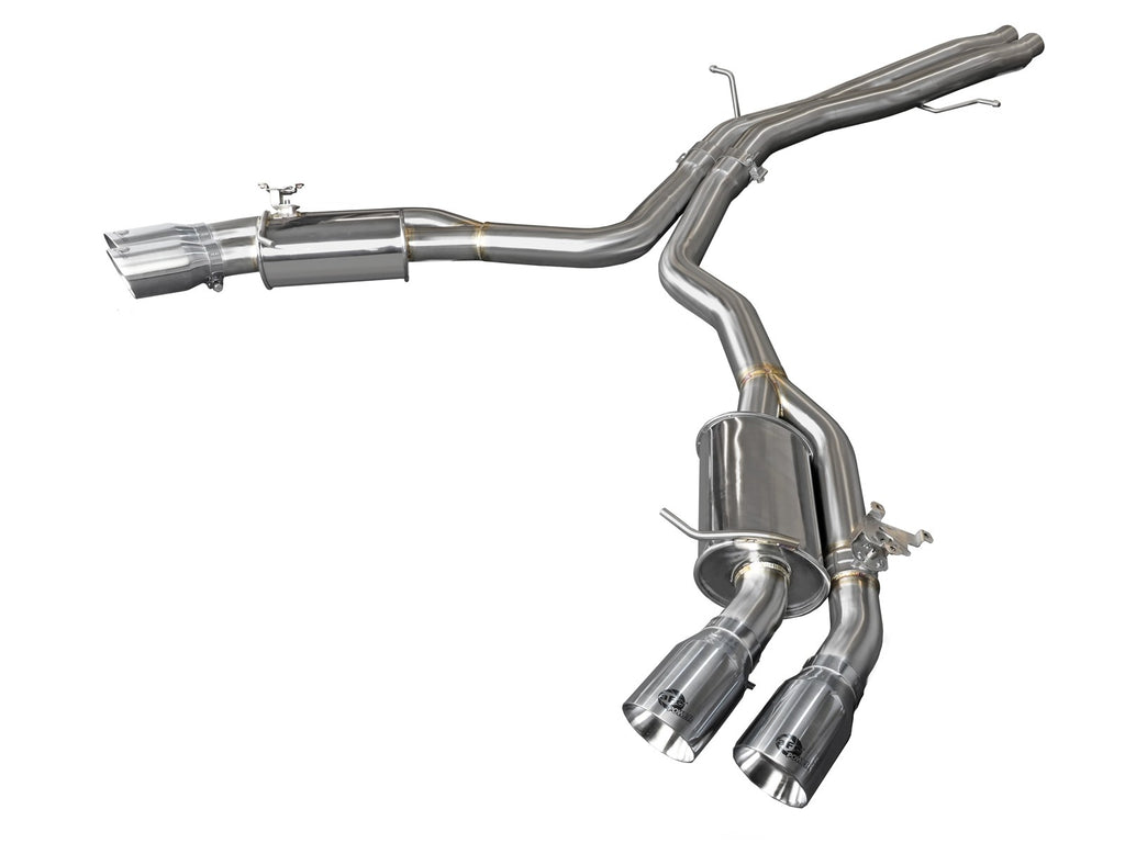 "aFe MACH Force-Xp 3"" to 2-1/2"" 304 Stainless Steel Axle-Back Exhaust System Polished Tips"