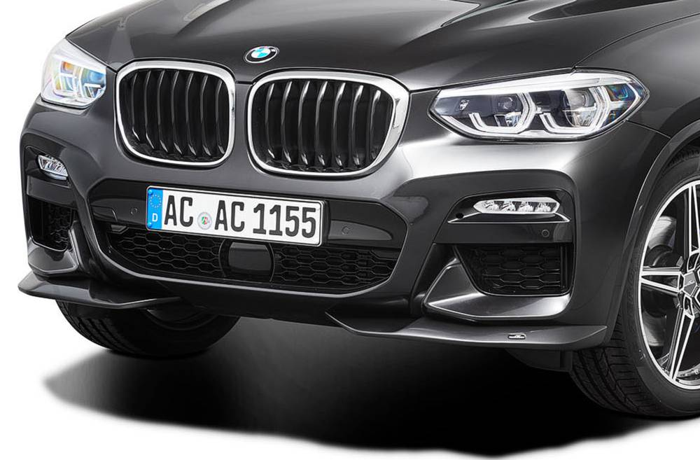 AC Schnitzer Front Spoiler Elements for the BMW X4 G02 for M Sport or cars with M Package