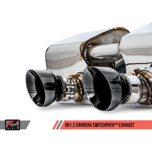 AWE Tuning Porsche 911 (991.2) Carrera / S SwitchPath Exhaust for PSE Cars - Diamond Black Tips