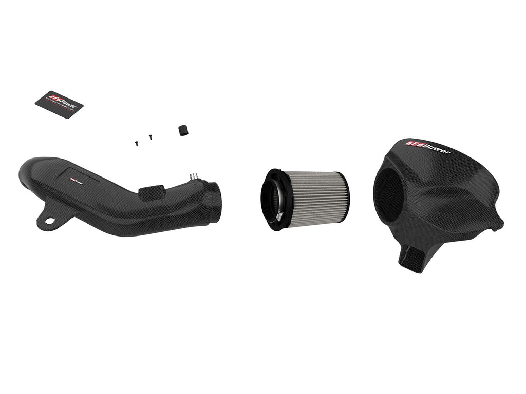 aFe POWER Black Series Momentum Carbon Fiber Cold Air Intake System w/Pro DRY S Filter BMW M2 (F87) 16-18 L6-3.0L (t) N55