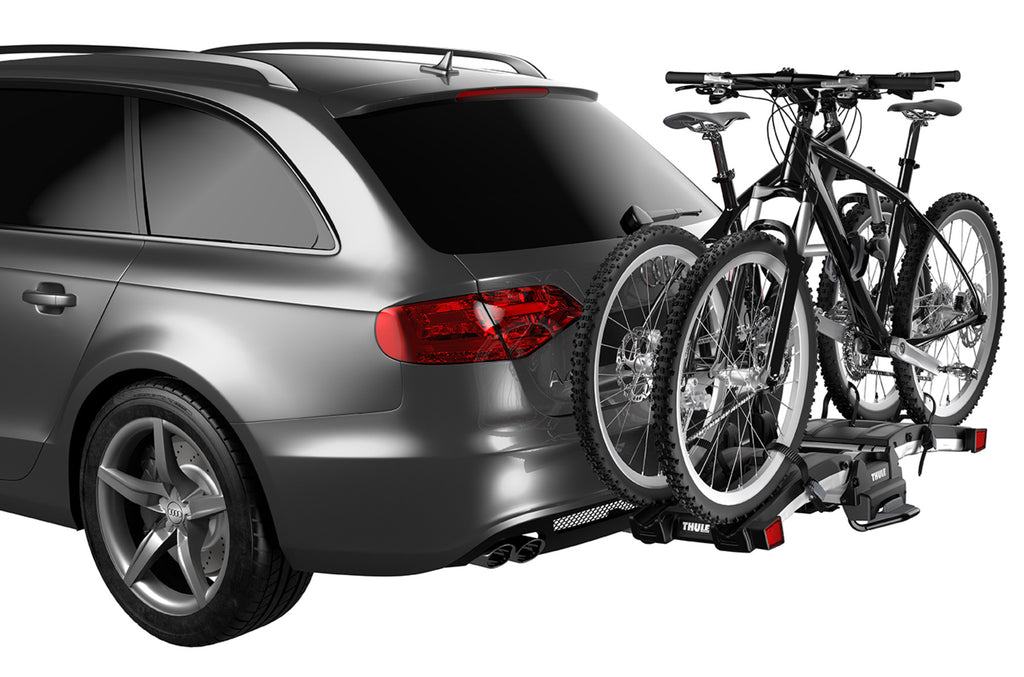 Thule EasyFold XT 2 - Fully Foldable Platform Hitch Bike Rack (Up to 2 Bikes) - Black/Silver