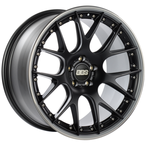 BBS CH-RII 604 21x10.5 5x120 ET35 Satin Black Center Platinum Lip SS Rim Prot Wheel -82mm PFS/Clip Req