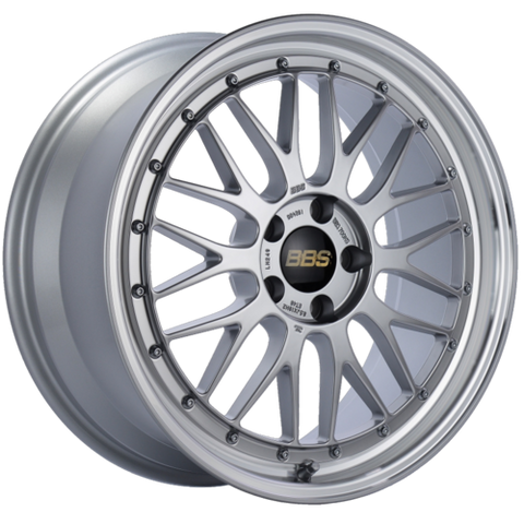 BBS LM 249 19x8.5 5x112 ET48 Diamond Silver Center Diamond Cut Lip Wheel -82mm PFS/Clip Required