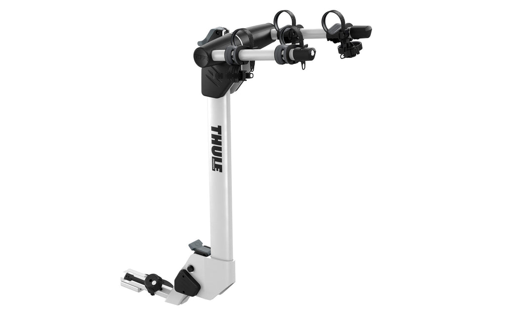 Thule Helium Pro 2 - Hanging Hitch Bike Rack with HitchSwitch Tilt-Down (Up to 2 Bikes) - Silver