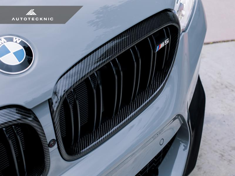 AutoTecknic Replacement Carbon Fiber Front Grilles Surrounds - F90 M5