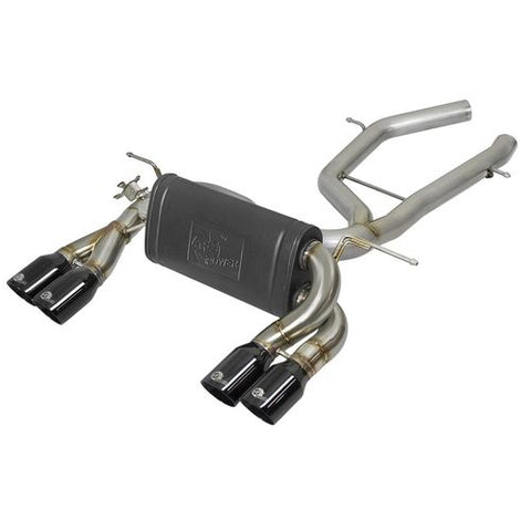 "aFe POWER MACH Force-Xp 3"" to 2-1/2"" 304 Stainless Steel Axle-Back Exhaust System (Black Tips) 15-19 BMW M3/M4 (F80/82/83) L6-3.0L (tt) S55"