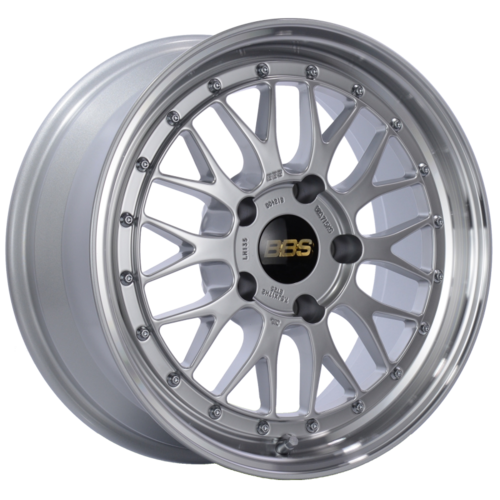 BBS LM 135 17x7.5 5x130 ET28 CB71.6 Diamond Silver Center Diamond Cut Lip Wheel