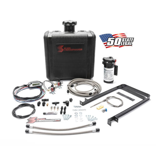 Snow Performance Diesel Stage 3 Boost Cooler Water-Methanol Injection Kit Universal (Stainless Steel Braided Line, 4AN Fittings)