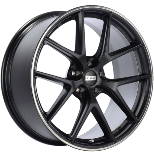 BBS CI-R 0201 20x9 5x112 ET25 Satin Black Polished Rim Protector Wheel -82mm PFS/Clip Required