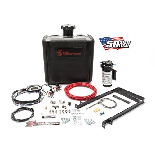 Snow Performance Diesel Stage 3 Boost Cooler Water-Methanol Injection Kit Universal (Red High Temp Nylon Tubing, Quick-Connect Fittings)