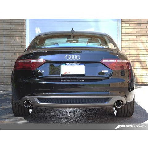 AWE Tuning Audi B8 A5 3.2L Track Edition Exhaust System - Dual 3.5in Diamond Black Tips