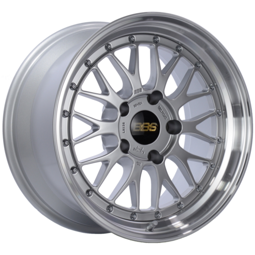 BBS LM 136 17x9 5x130 ET17 CB71.6 Diamond Silver Center Diamond Cut Lip Wheel