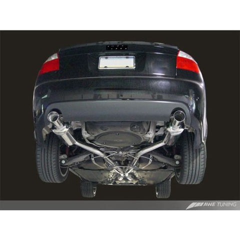 AWE Tuning Audi B6 A4 3.0L Touring Edition Exhaust - w/Diamond Black Tips
