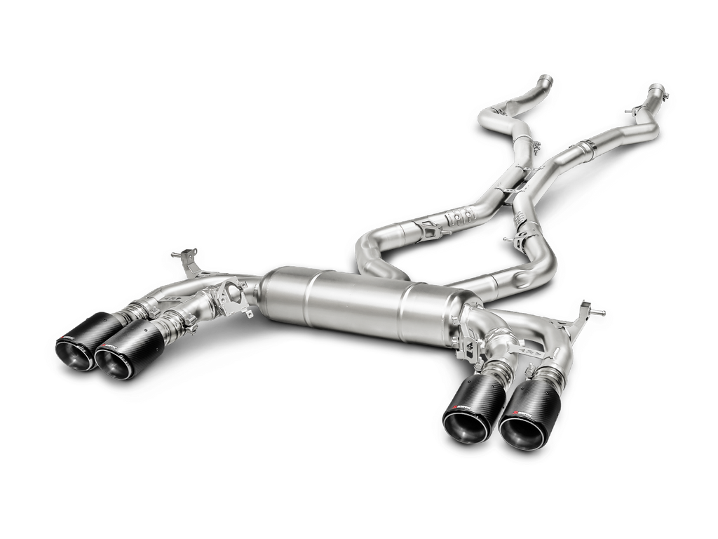 Akrapovic 15-17 BMW X5M/X6M (F85/F86) Evolution Line Cat Back (Titanium) w/ Carbon Tips