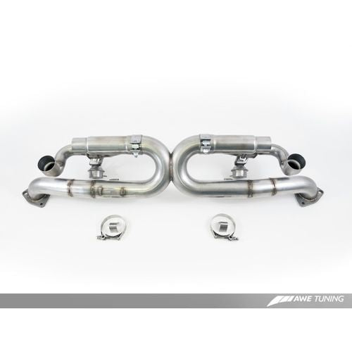AWE Tuning Porsche 991 SwitchPath Exhaust for PSE Cars Diamond Black Tips