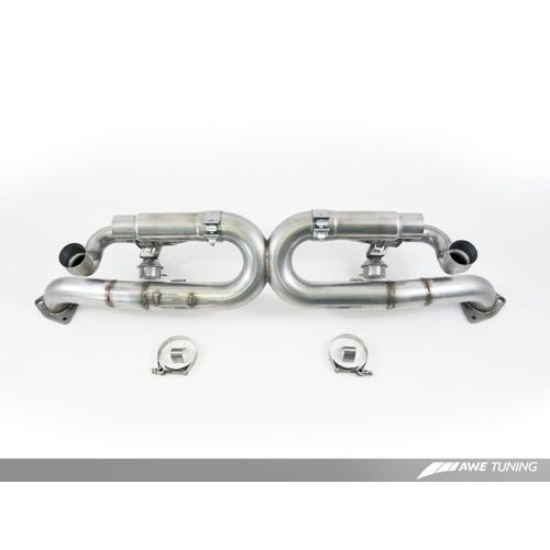 AWE Tuning Porsche 991 SwitchPath Exhaust for Non-PSE Cars Diamond Black Tips