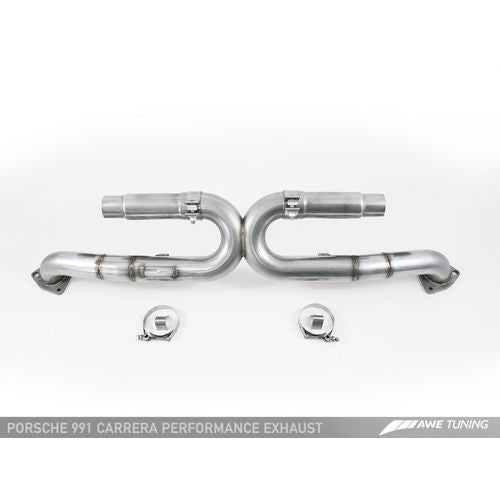 AWE Tuning 991 Carrera Performance Exhaust - Chrome Silver Tips