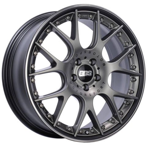 BBS CH-RII 651 20x8.5 5x120 ET32 Satin Platinum Center Black Lip SS Rim Prot Wheel -82mm PFS/Clip Req