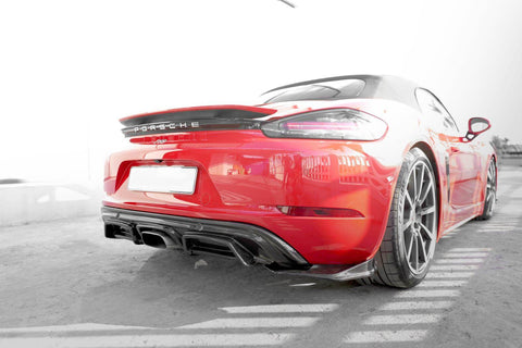 ARMASPEED Porsche 718 Boxster Black Carbon rear Diffuser