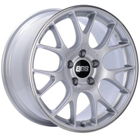 BBS CH-R 18x9 5x120 ET44 Brilliant Silver Polished Rim Protector Wheel -82mm PFS/Clip Required