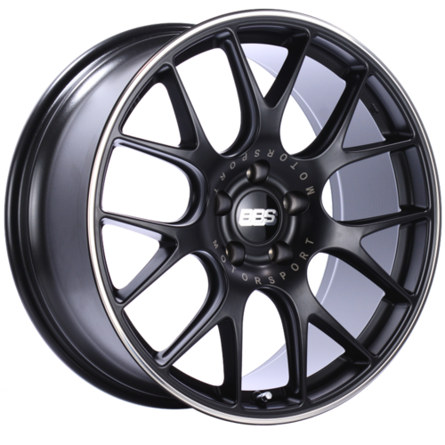 BBS CH-R 124 20x9.5 5x114.3 ET40 CB66 Satin Black Polished Rim Protector Wheel
