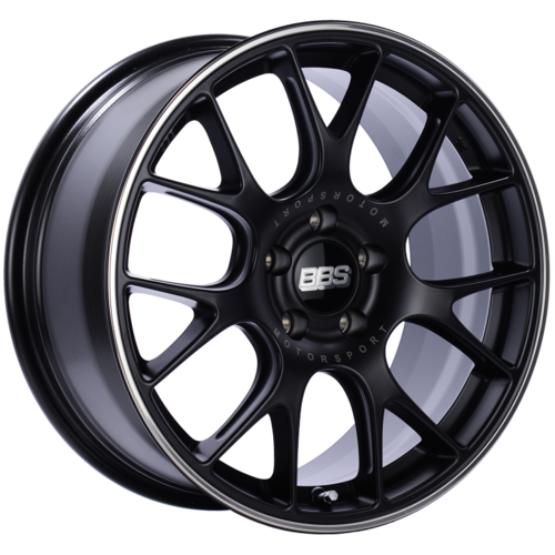 BBS CH-R 133 18x9 5x120 ET44 Satin Black Polished Rim Protector Wheel -82mm PFS/Clip Required
