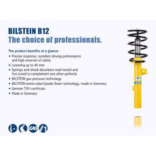 Bilstein B12 (Pro-Kit) BMW 335is Base Convertible Front and Rear Suspension Kit