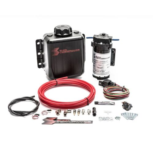 Snow Performance Diesel Stage 1 Boost Cooler Water-Methanol Injection Kit (Red High Temp Nylon Tubing, Quick-Connect Fittings)