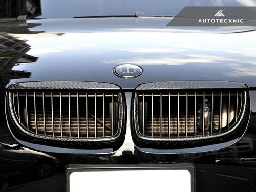AutoTecknic Replacement Carbon Fiber Front Grilles - E90 Sedan / E91 Wagon | 3 Series