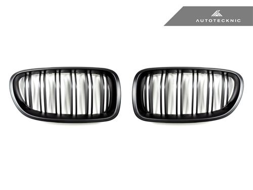 AutoTecknic Stealth Black Dual-Slats Front Grilles - F10 5-Series | M5