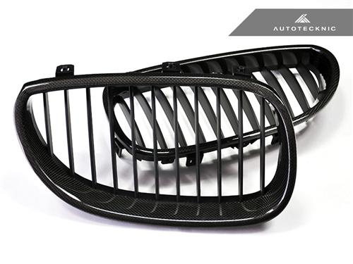 AutoTecknic Replacement Carbon Fiber Front Grilles - E60 Sedan / E61 Wagon | 5 Series including M5