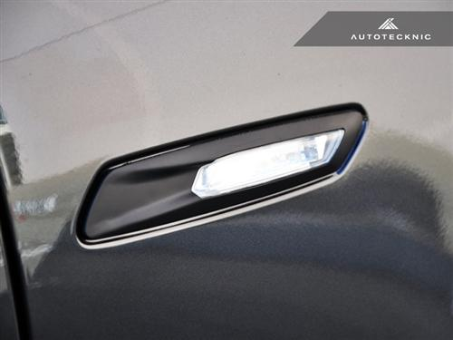 AutoTecknic Replacement Stealth Black Fender Light Trims - F10 Sedan / F11 Wagon | 5 Series